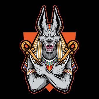 Illustration du logo anubis égyptien
