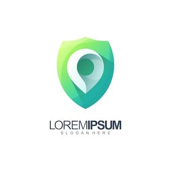 Illustration du logo de bouclier de localisation