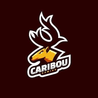 Illustration du logo caribou e sport et style de sport