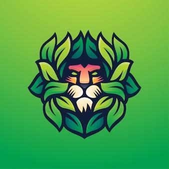Illustration du logo du lion vert