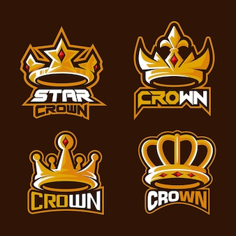 Illustration du logo esport belle couronne