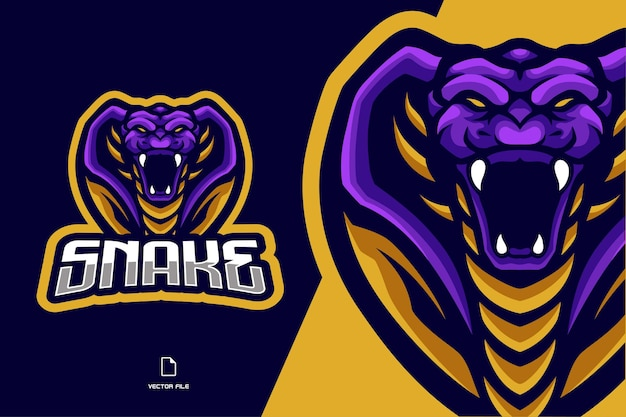 Illustration du logo esport mascotte serpent cobra