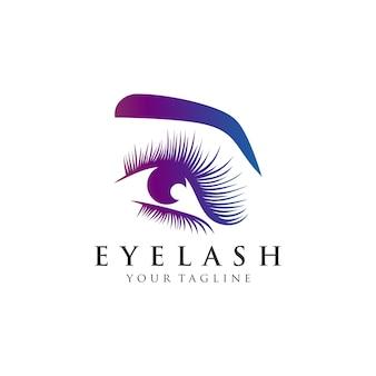 Illustration du logo d'extension de cils