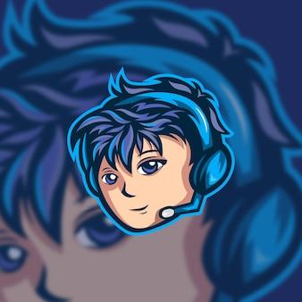 Illustration du logo gamer macot