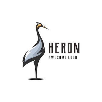 Illustration du logo héron