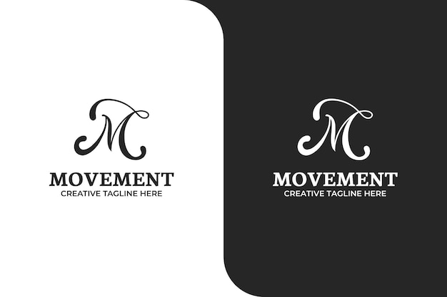 Illustration du logo de la lettre m ornementale
