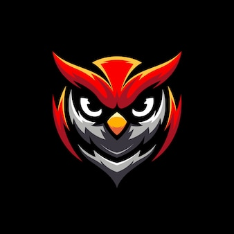 Illustration du logo mascot owl gaming