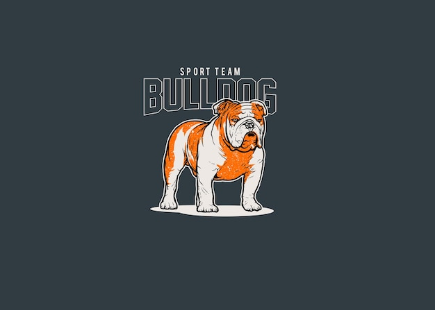 Illustration du logo mascotte bulldog sport team