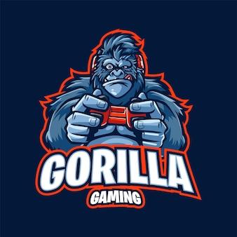 Illustration du logo de la mascotte de jeu gorilla
