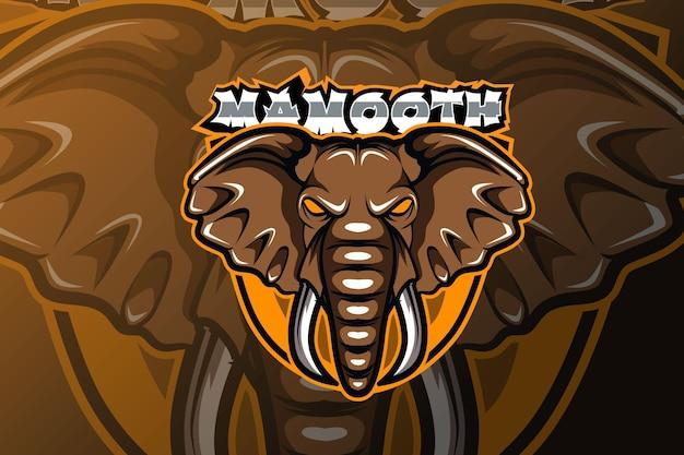 Illustration du logo mascotte mammouth