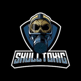 Illustration du logo de la mascotte toxique du crâne