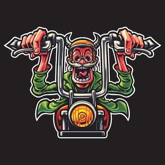 Illustration du logo old rider esport