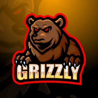 Illustration du logo ours mascotte esport