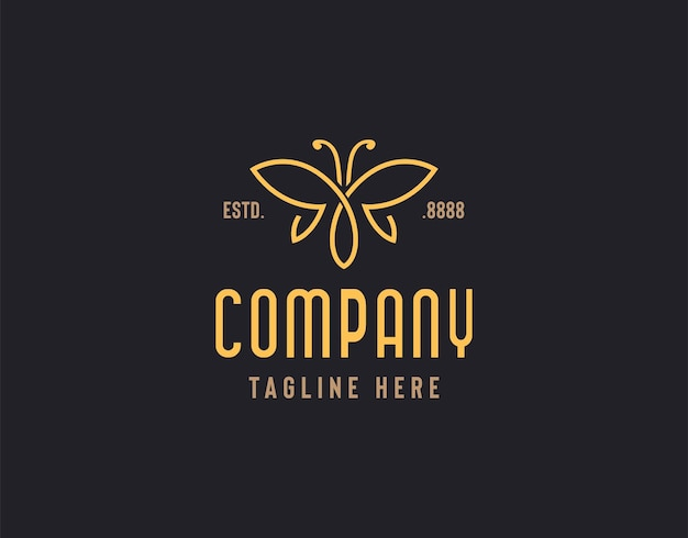 Illustration du logo papillon du papillon