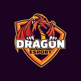 Illustration du logo protégez le style e-sport et sport.