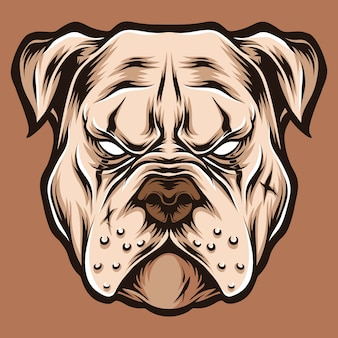 Illustration du logo de la tête de pitbull