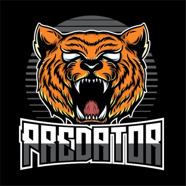 Illustration du logo tête de tigre