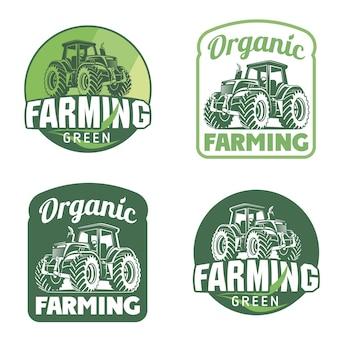 Illustration du logo vectoriel des produits frais biologiques emblème du marché des producteurs de produits biologiques