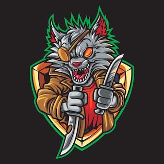Illustration du logo de voleur cat esport