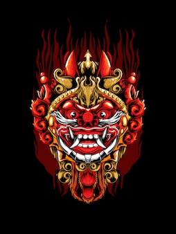 Illustration du masque barong
