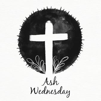 Illustration du mercredi des cendres d'encre