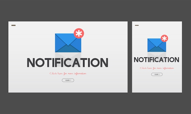 Illustration du message de notification