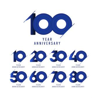 Illustration du modèle de célébration du 100e anniversaire
