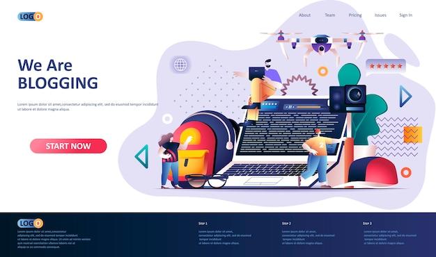 Illustration du modèle de page de destination de blogging