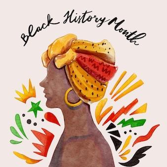 Illustration du mois de l'histoire noire aquarelle