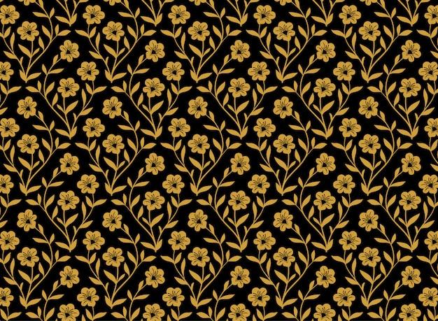 Illustration du motif de fleurs