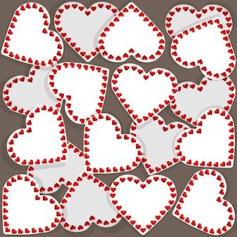 Illustration du motif avec de nombreux petits coeurs