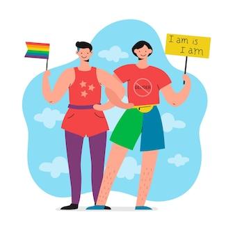 Illustration du mouvement non sexiste