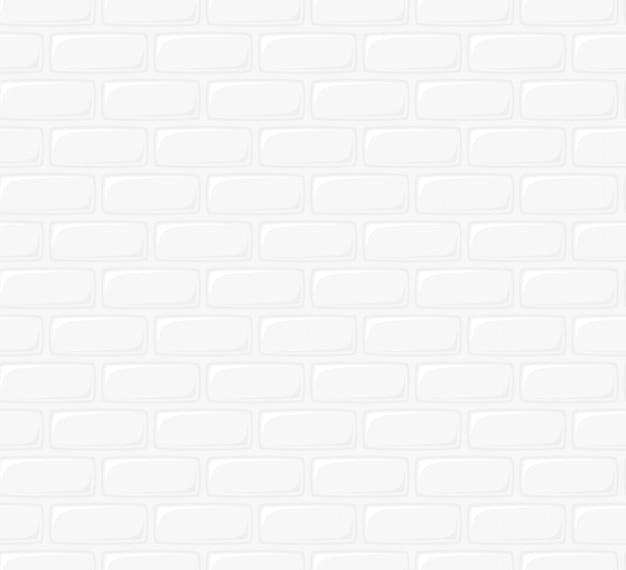 Illustration du mur de briques blanches. fond de texture transparente. conception de style art plat de motif de mur de brique de dessin animé pour une réplication continue