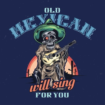 Illustration du musicien mort mexicain
