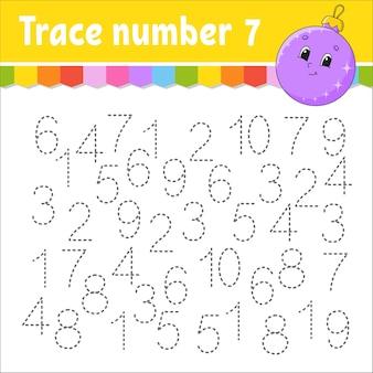 Illustration du numéro de trace