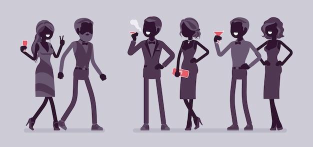 Illustration du parti de la haute société