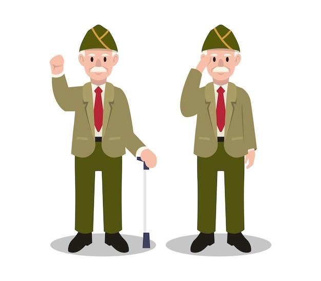 Illustration du personnage de l'armée du jour des vétérans