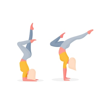 Illustration du personnage d'avatar de yoga