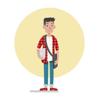 Illustration du personnage étudiant masculin