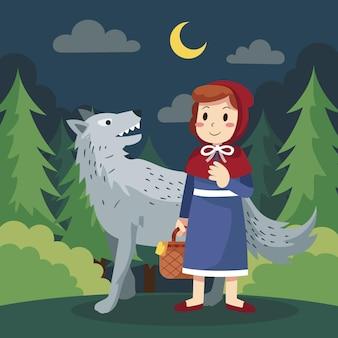 Illustration du petit chaperon rouge