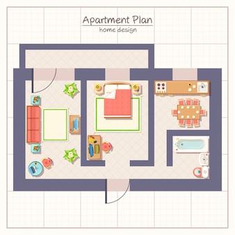 Illustration du plan architectural