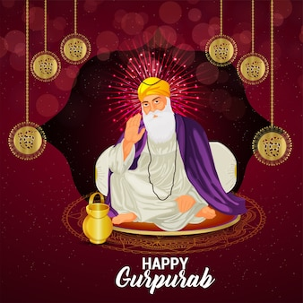 Illustration du premier gourou sikh guru nanak dev ji