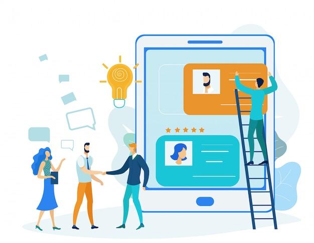 Illustration du projet de développement d'applications