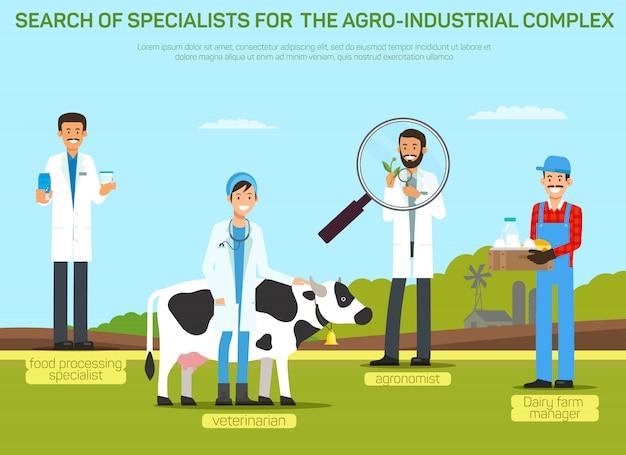 Illustration du recrutement de travailleurs de l'industrie agroalimentaire