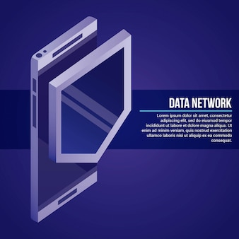 Illustration du réseau de données