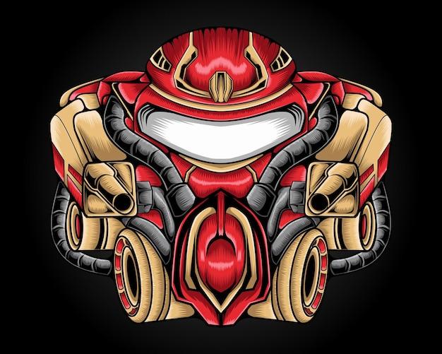 Illustration du robot mecha mignon