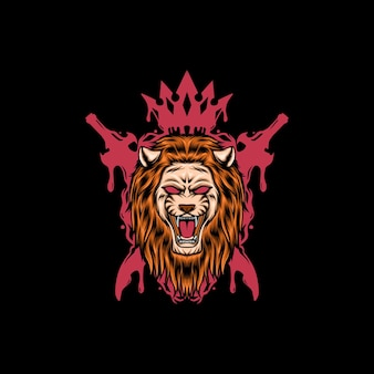 Illustration du roi lion