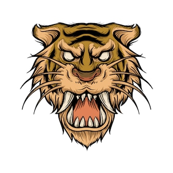 Illustration du sabre à dents de tigre