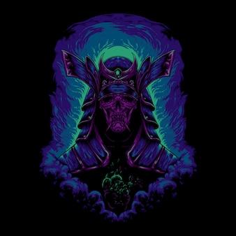Illustration du samourai du diable