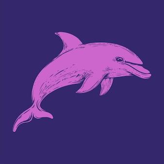 Illustration du saut de dauphin isolé
